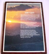 Don't Quit-Motivational Inspirational Quotes Wood Print Art Wall or shelf Decor