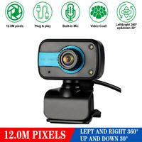 USB Webcam Web Camera HD AutoFocus Cam Video Recording W/Microphone For PC