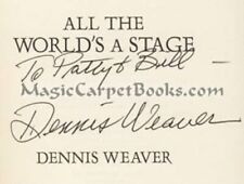 INSCRIBED Dennis Weaver ALL THE WORLD'S A STAGE Actor GUNSMOKE McCloud PHOTOS