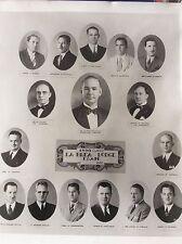 VTG F & AM Masons 1936 Class La Brea Lodge no. 650 Photo print picture framed