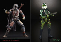 """Star Wars The Black Series The Mandalorian & Clone Commander Gree Excl 6"""" Figure"""