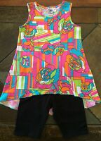 Girls boutique outfit size 2T 24 months high low shirt bike shorts New Anita G