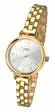 Limit Ladies Gold Plated Bracelet Watch Stone Set Silver Tone Dial 6313