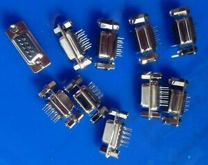 NEU 10 Stück Sub-D-Buchse 9-polig NEU