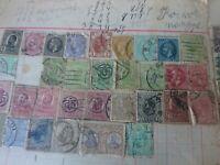 Sammlung lose Blätter antik Briefmarken von Rumänien ab ca. 1860 bis 1940
