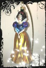 Cute Christopher Radko Disney SNOW WHITE Princess Big Handcrafted Glass Ornament