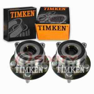 2 pc Timken Front Wheel Bearing Hub Assembly for 2010-2017 Toyota Prius jb
