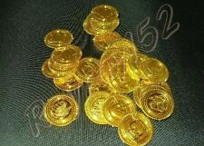 30 plastic pirate coins gold treasure coin FREE POSTAGE J33