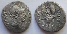 Octavian AR Denarius.Military mint travelling with Octavian in Greece,42 BC 1551