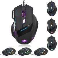 5500 DPI 7D LED Optical USB Wired Gaming PRO Mouse Mice For PC Laptop lx