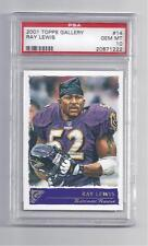 Ray Lewis 2001 Topps Gallery #14 PSA 10 Gem Mint