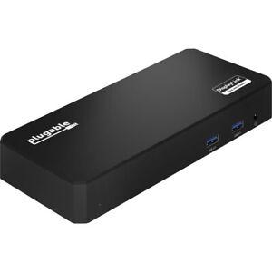 Plugable USB C Triple Display Docking Station with Laptop Charging, Thunderbolt