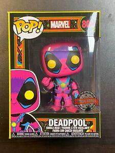 Funko POP Marvel Deadpool Black Light Glows In Dark #807 IN HAND