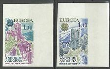 Andorre Andorra Europa Eglise Chateau Church Castel Non Denteles Imperfs ** 1977