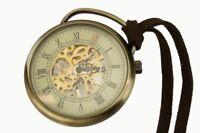 Taschenuhr TU74 echtes Uhrwerk Uhrenwerk Leder Antikoptik Handaufzug mechanisch