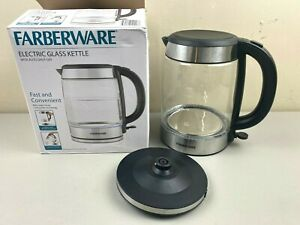 Faberware Electric Glass Kettle With Auto Shut Off - Used, Good Condition