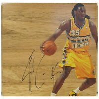 Kenneth Faried Denver Nuggets Autograph Signed Basketball Floor Board Proof COA