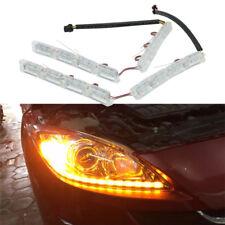 2x Flexible White LED Strip Headlight Daytime Running Signal DRL Tear Eye Light