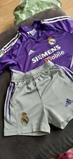 Real Madrid Siemens 2004 Adidas GK Football Kit Good Condition SMALL 26-28""