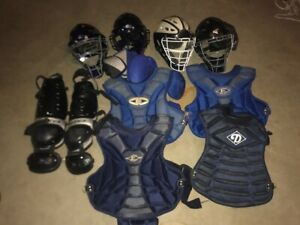 Lot of Easton Youth Catcher Equipment