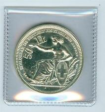 SWITZERLAND 1984 Oberhasli-ZH Fifty 50 Francs SILVER Shooting Medal UNC