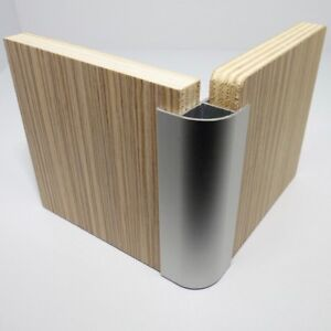 Camper Motorhome Aluminium Corner Trim Profile For 15mm Furniture Boards 600mm