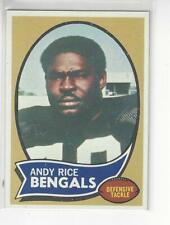 Andy Rice 1970 Topps Football Card Cincinnati Bengals #42 NM