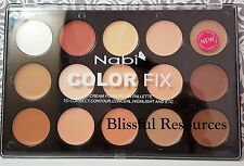 Nabi Color Fix Cream Foundation Pallette 15 Shades New&Sealed