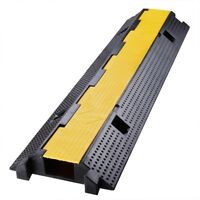 1 Channel Cable Protector Ramp Rubber Electrical Wire Cable Cover Ramp Guard