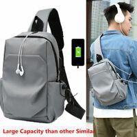 Men Bag Shoulder Crossbody Cross Body Bag Chest Bagpack Messenger Large Capacity