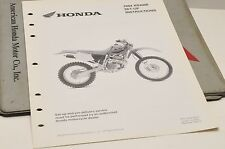 2004 XR400R XR400 R GENUINE Honda Factory SETUP INSTRUCTIONS PDI MANUAL S0217