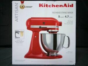 KIitchenAid KSM150PSER 5QT Tilt-Head Stand Mixer Empire Red Factory Sealed