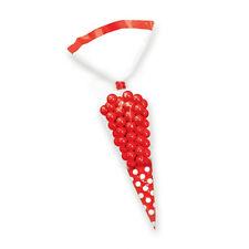 10 X Rosso Caramelle BUFFET PARTY a forma di cono Violoncello Sacchetti Di Caramelle Dolci Popcorn Borse