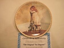"Royal Doulton The Original ""In Disgrace"" A Victorian Childhood Plate"