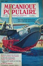 REVUE MECANIQUE POPULAIRE N° 111 HYDRAVION PECHE SOUS MARINE FUSEE USA 1955