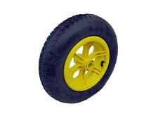 "16"" yellow SPOKED pneumatic wheelbarrow wheel 4.80-8 BENT valve 1"" BORE"