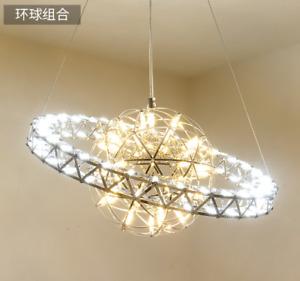 Modern Dandelion Chandelier LED Firework Pendant Lamp Spark Ceiling Light