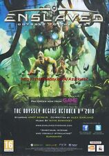 "Enslaved Odyssey To The west ""Pre-Order"" 2010  Magazine Advert #4570"