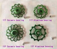 11T Anodised Ceramic Bearing Derailleur Jockey Wheels Pulleys Shimano & Sram