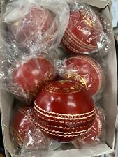 Pack of 6 Star Sports ReD Cricket Leather Hard Ball 5.5 oz.Hand Stitched Grade A