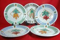 "Tabletops Unlimited GARDEN FRESH Dinner Plates (Set of 5) 11"""