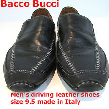 Authentic Bacco Bucci Italian black leather shoes size 10