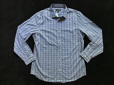 Banana Republic Non-Iron Slim Fit Blue Plaid Dress Shirt Mens 16 - 16.5 x 34 -35