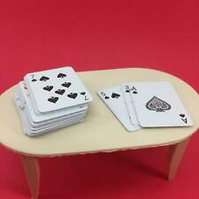 Miniature Playing Cards Full Deck with Case for Dollhouse Diorama