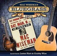 "MAC WISEMAN, CD ""BLUEGRASS 1971"" NEW SEALED"