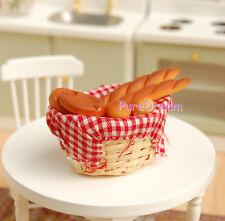 Miniatures Food Bread Bamboo Basket for Fashion Barbie Pullip Dolls