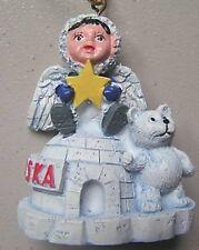Polar Bear with Eskimo & Igloo Ornament
