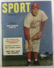 Sport Magazine, September 1953, Robin Roberts - Phila. Phillies Cover, VG Cond'