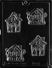 GINGERBREAD HOUSES PIECES mold Chocolate Candy plaster molds gingerbread house