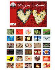 NEU! 2 x Postkartenbuch Herzen (2 x 30 Postkarten für Hochzeit / Hochzeitsspiel)